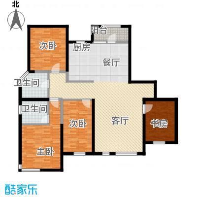 名流公馆133.80㎡11号楼B5户型4室2厅2卫
