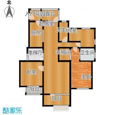 廊坊孔雀城142.00㎡图为户型3室2厅2卫