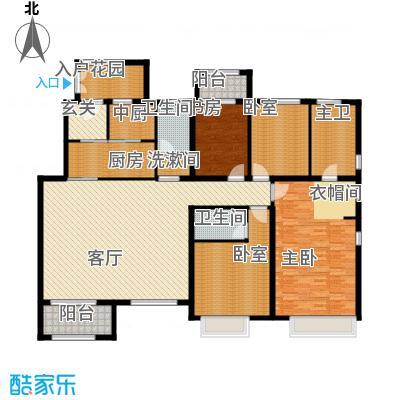 廊坊孔雀城193.00㎡图为户型4室2厅3卫