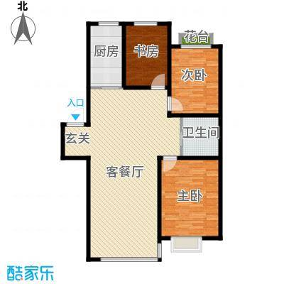 荣发时代新城115.00㎡C户型3室2厅1卫