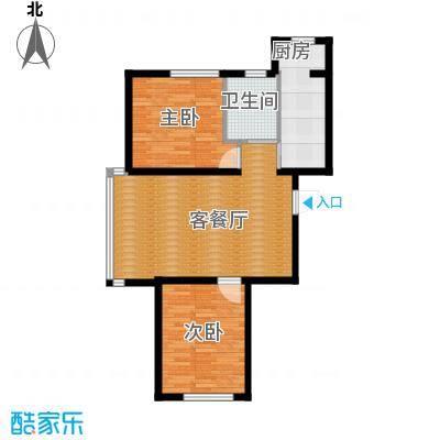 荣旺天下90.06㎡二期E2号楼D户型2室2厅1卫