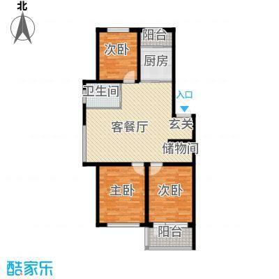 荣发时代新城101.00㎡E户型3室2厅1卫