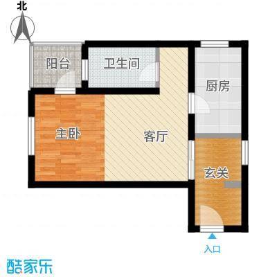八达岭孔雀城51.07㎡公寓B4户型1室1厅1卫