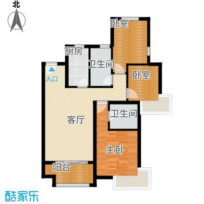 廊坊孔雀城117.00㎡图为户型3室2厅2卫