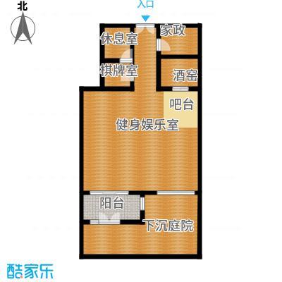 廊坊孔雀城172.00㎡图为地下一层户型4室3厅3卫