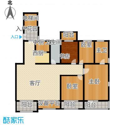 廊坊孔雀城198.00㎡图为户型4室2厅2卫