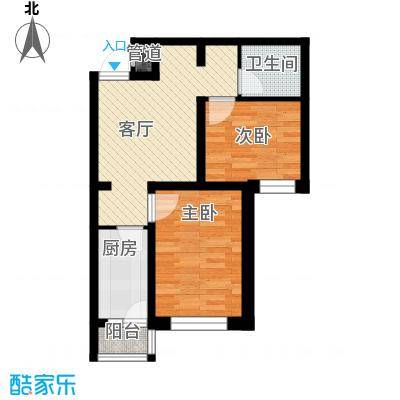 隆德帝景51.89㎡户型10室