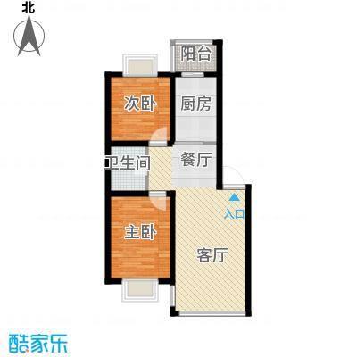 荣发时代新城65.84㎡户型10室