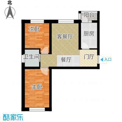 隆德帝景58.69㎡户型10室