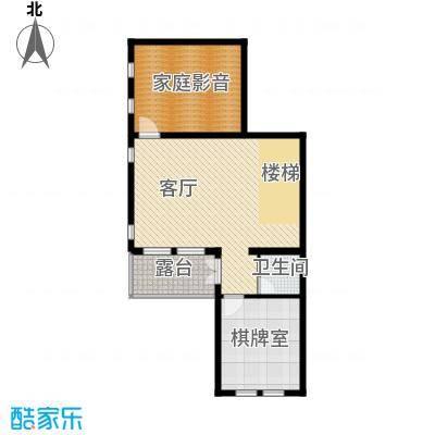 八达岭孔雀城81.98㎡联排C地下一层户型10室