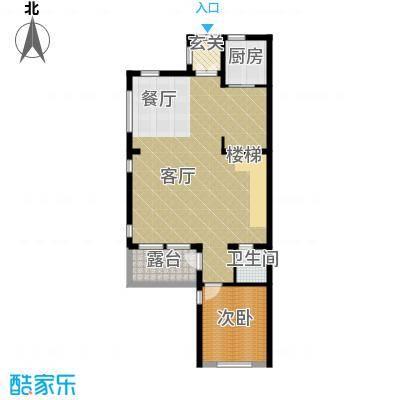 八达岭孔雀城99.63㎡联排C一层户型10室