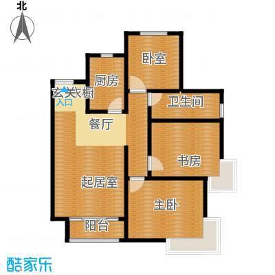 廊坊孔雀城105.00㎡图为户型3室2厅1卫