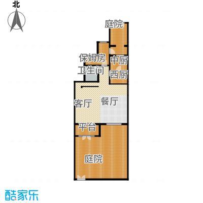 廊坊孔雀城172.00㎡图为首层户型4室3厅3卫