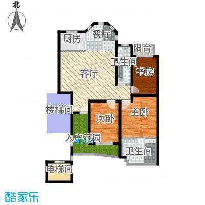 观澜墅132.00㎡墅质洋房B(1)户型2室1厅2卫