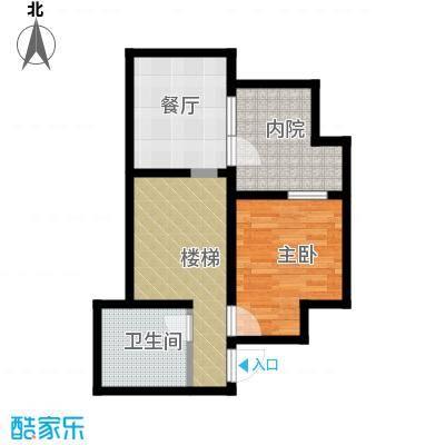 八达岭孔雀城55.88㎡A3地下一层户型1室1厅1卫