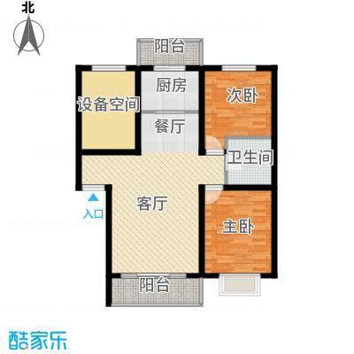 吴中印象98.00㎡E户型2室1厅1卫1厨