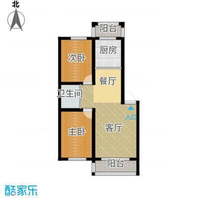 美韵星海74.99㎡户型2室1厅1卫1厨