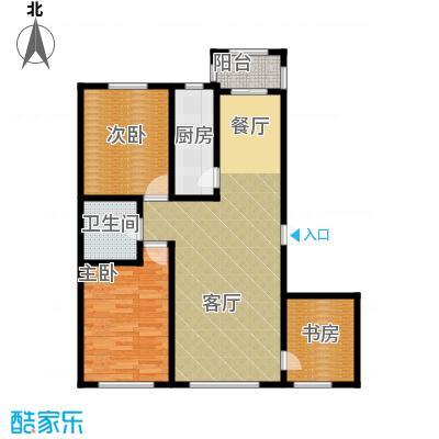 美韵星海90.64㎡户型3室1厅1卫1厨
