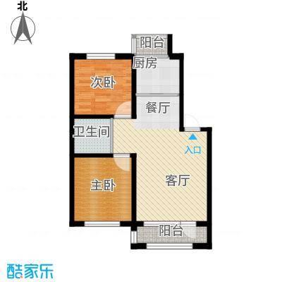 天润中华城66.12㎡户型10室