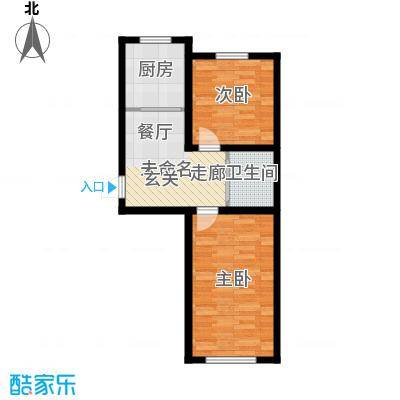 凤凰雅居64.60㎡C户型2室1厅1卫
