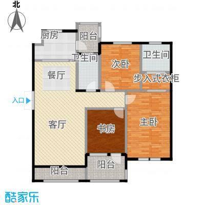 力旺塞歌维亚123.37㎡3户型3室1厅2卫1厨