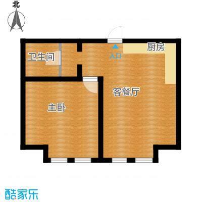 力旺塞歌维亚60.00㎡LOMO精装公寓B户型1室1厅1卫