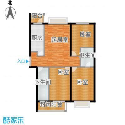 学府怡园101.68㎡户型3室1厅2卫