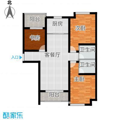 环球贸易中心126.00㎡住宅B户型3室2厅2卫