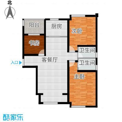 环球贸易中心138.00㎡住宅C户型3室1厅2卫1厨