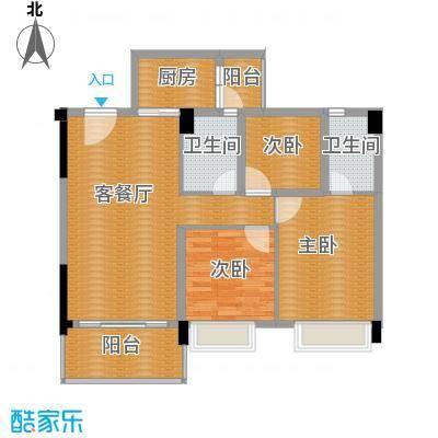 地王广场三期香颂里114.00㎡芳香四季户型3室2厅2卫