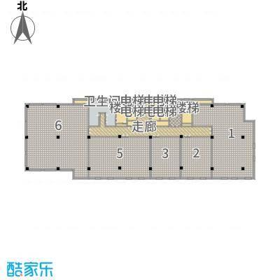 伟峰东第1398.79㎡11号楼标准层户型10室