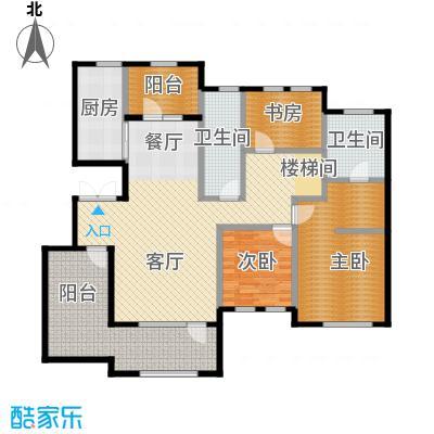 远洋戛纳小镇101.00㎡Y5二层户型2室2厅2卫
