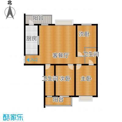 学府怡园116.74㎡户型3室2厅2卫