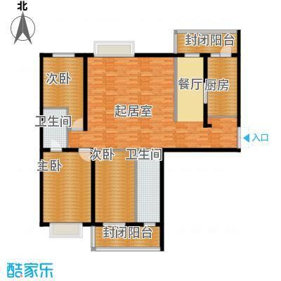 学府怡园113.59㎡户型3室2厅2卫