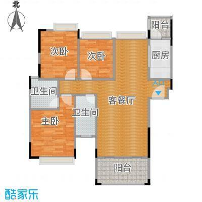 雍景家园87.05㎡标准层D1户型10室