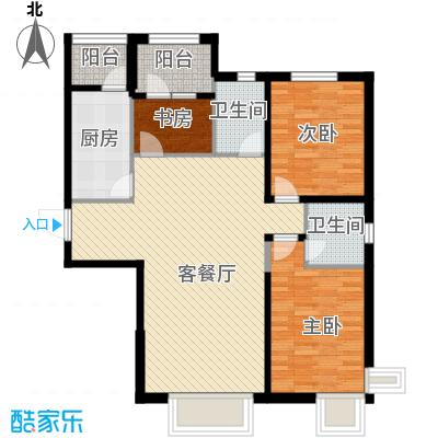 华荣泰时代COSMO125.00㎡A户型3室2厅2卫