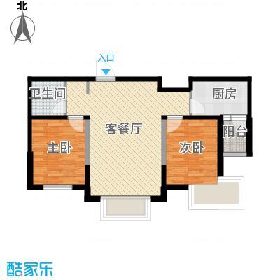 华荣泰时代COSMO90.00㎡B户型2室2厅1卫