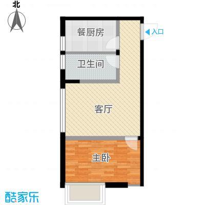 华荣泰时代COSMO72.00㎡6#03户型1室1厅1卫