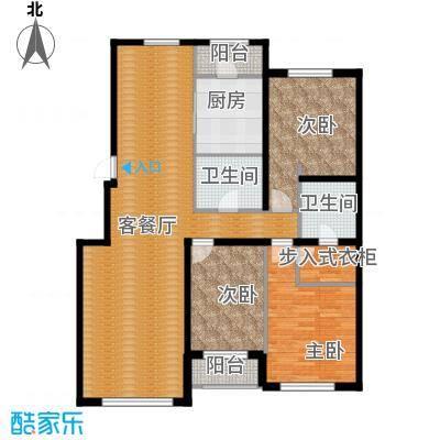 伟峰东第144.00㎡E户型3室2厅2卫