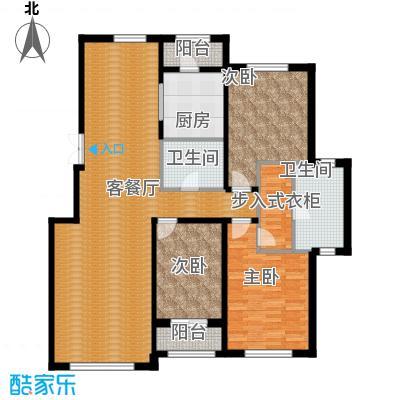 伟峰东第154.00㎡F户型3室2厅2卫