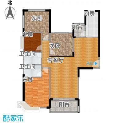 恒大翡翠华庭159.11㎡1号楼C户型4室2厅2卫