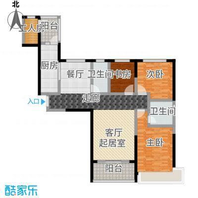 恒大翡翠华庭2-5号楼A户型3室2卫1厨