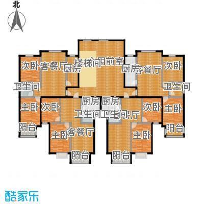 唐城一品350.29㎡1号楼平面图户型10室