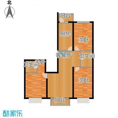 学府怡园111.78㎡户型3室2厅2卫