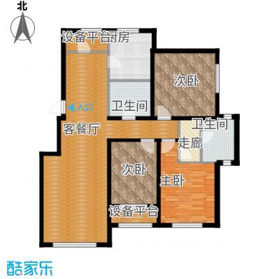 伟峰东第138.00㎡D户型3室2厅2卫