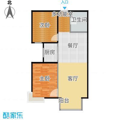 香汐76.70㎡B-2户型2室2厅1卫