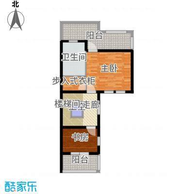 大运河孔雀城74.77㎡b3n三层户型10室