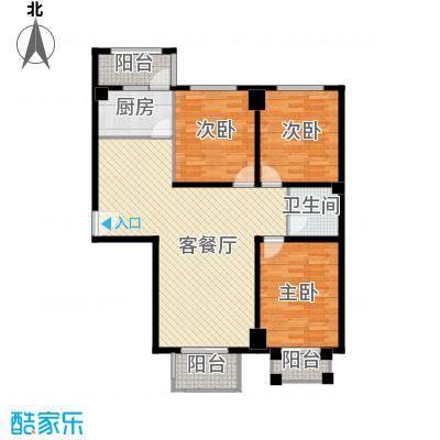 香公馆121.26㎡C户型3室2厅1卫
