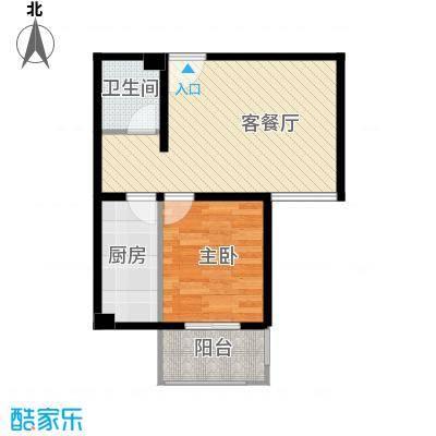 香公馆56.58㎡S户型1室1厅1卫