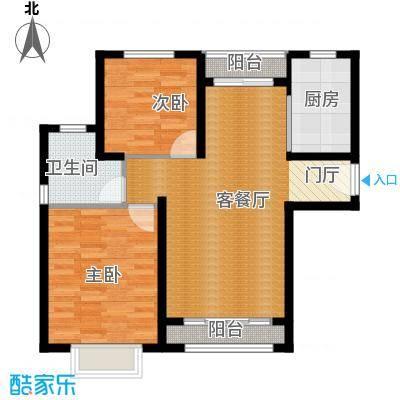 京汉君庭76.97㎡Af-B1户型10室